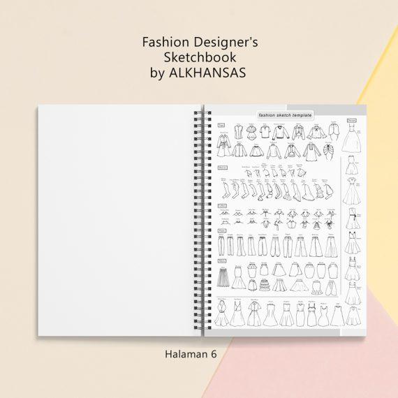 the fashion designers sketchbook alkhansas hal 6